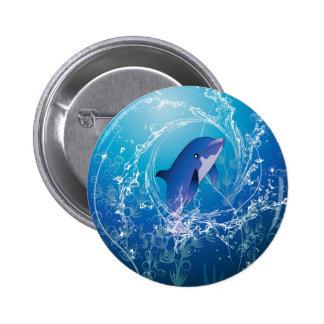 Delfín lindo pin redondo 5 cm