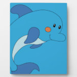 delfín lindo placa de plastico