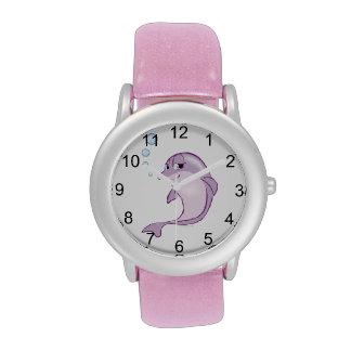 Delfín lindo relojes