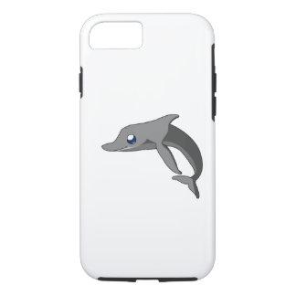 Delfín lindo simple Kawaii del dibujo animado Funda iPhone 7