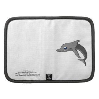 Delfín lindo simple Kawaii del dibujo animado Planificador