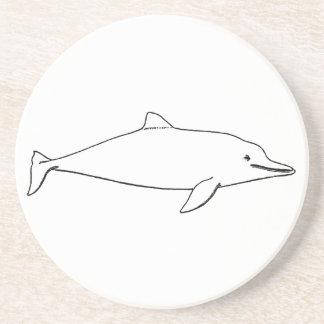 Delfín - logotipo de la masopa (línea arte) posavasos cerveza