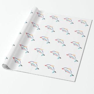 Delfín multicolor papel de regalo