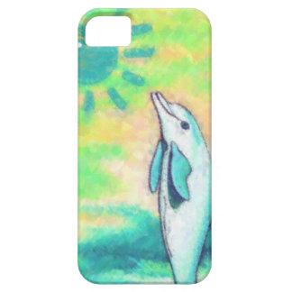Delfín pintado iPhone 5 cárcasa