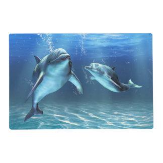 Delfín Placemat laminado sueño Tapete Individual
