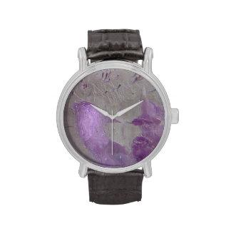 Delfín púrpura impresionista abstracto del © P Whe Reloj