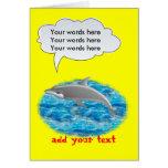 Delfín que habla felicitacion