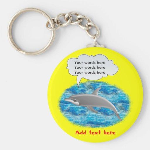 Delfín que habla llavero personalizado