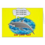 Delfín que habla tarjeta