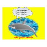 Delfín que habla tarjetas postales