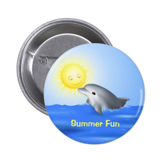 Delfín que juega con Sun Pin Redondo 5 Cm