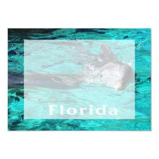 """delfín que sale del agua clara florida.jpg del invitación 5"""" x 7"""""""