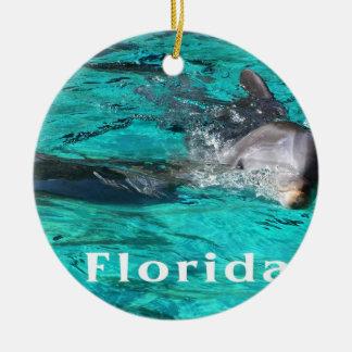delfín que sale del agua clara florida jpg del tru ornamento de reyes magos