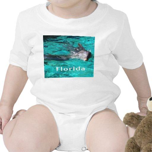 delfín que sale del agua clara florida.jpg del tru camiseta