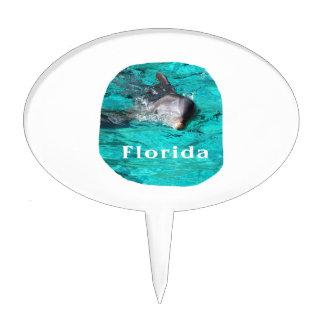 delfín que sale del agua clara la Florida del trul Decoraciones Para Tartas