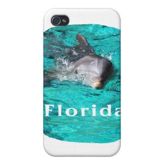 delfín que sale del agua clara la Florida del trul iPhone 4 Carcasas