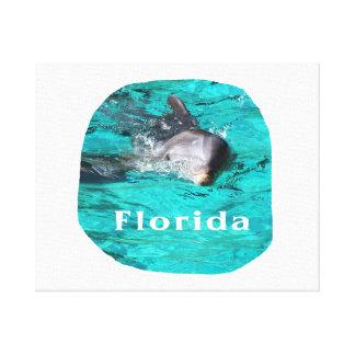 delfín que sale del agua clara la Florida del trul Impresion En Lona