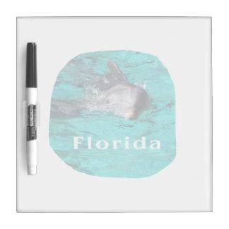 delfín que sale del agua clara la Florida del trul Tablero Blanco