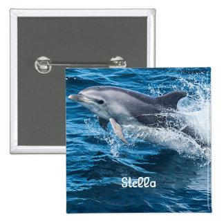 Delfín que salpica el botón personalizado