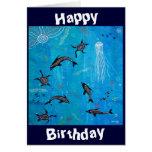 Delfín que soña la tarjeta de cumpleaños