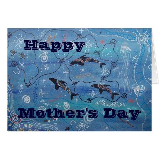 Delfín que soña la tarjeta del día de madre