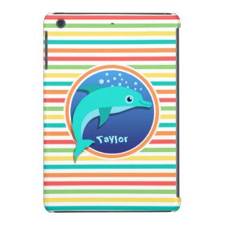 Delfín Rayas brillantes del arco iris Funda De iPad Mini