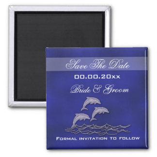 """Delfín """"reserva del boda de playa la fecha """" iman para frigorífico"""