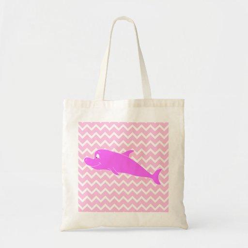 Delfín rosado bolsas