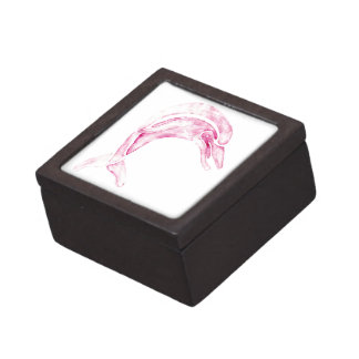 Delfín rosado cajas de regalo de calidad