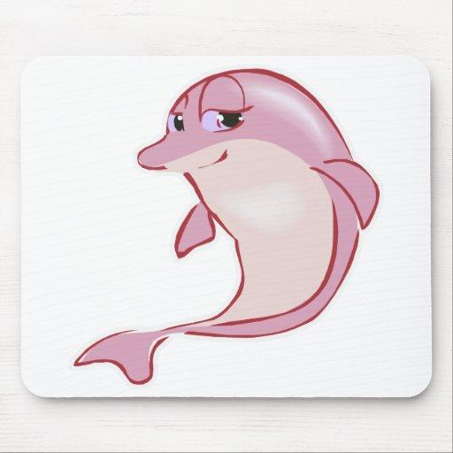 delfín rosado lindo alfombrillas de ratones