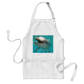 Delfín sonriente delantal