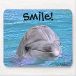 ¡Delfín sonriente - sonrisa! Alfombrilla De Raton