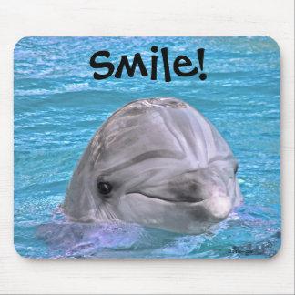 ¡Delfín sonriente - sonrisa! Alfombrilla De Ratones