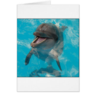 Delfín sonriente tarjeta de felicitación
