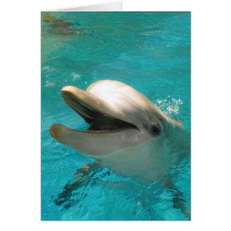 Delfín sonriente tarjeta pequeña