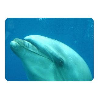 Delfín subacuático invitación 12,7 x 17,8 cm