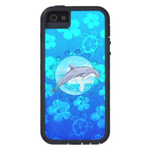 Delfín Sun maorí iPhone 5 Case-Mate Fundas