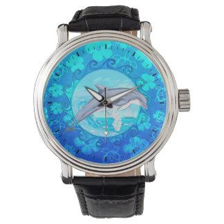 Delfín Sun maorí Relojes De Mano