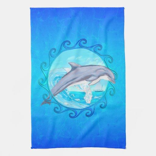 Delfín Sun maorí Toalla De Mano