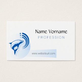 delfin tarjetas de visita