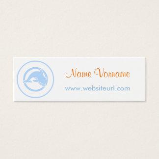 delfin tarjetas de visita mini