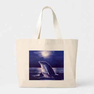 Delfín y bebé bolsa de mano