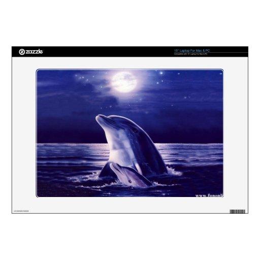 Delfín y bebé calcomanía para 38,1cm portátil