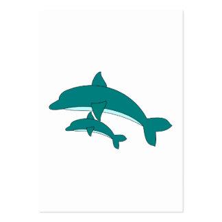 Delfín y bebé tarjetas de visita grandes
