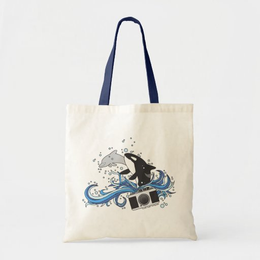 Delfín y la bolsa de asas de la cámara