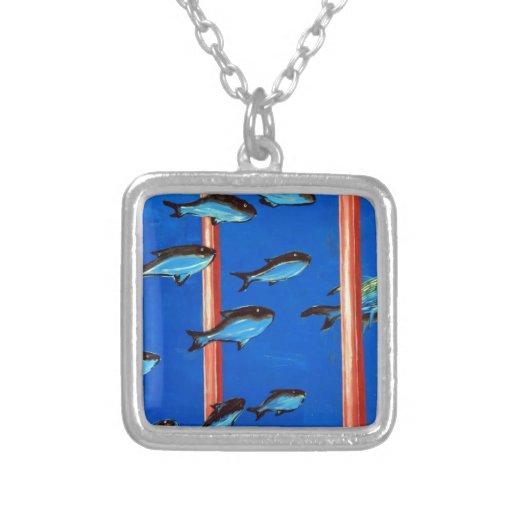 Delfín y pescados joyería