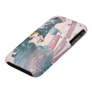 Delfín y rayas de la Mujer Maravilla Case-Mate iPhone 3 Protectores