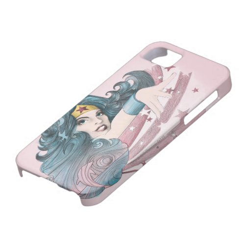 Delfín y rayas de la Mujer Maravilla iPhone 5 Case-Mate Funda