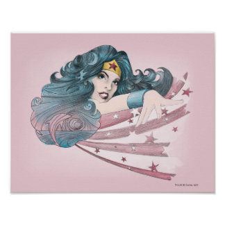 Delfín y rayas de la Mujer Maravilla Poster