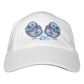 Delfínes abstractos gorra de alto rendimiento